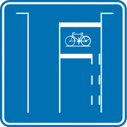 Traffic sign of Belgium: Box for cyclists