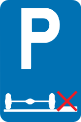 Traffic sign of Belgium: Parking only allowed on the road