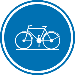 Traffic sign of Belgium: Mandatory path for cyclists