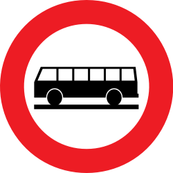 Traffic sign of Belgium: Buses prohibited