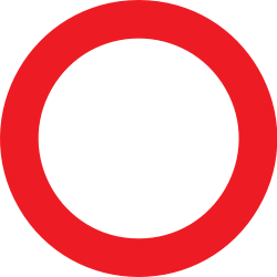Traffic sign of Belgium: Entry prohibited