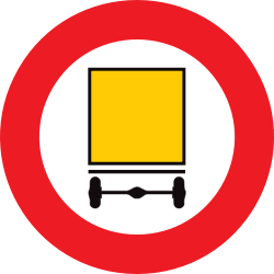 Traffic sign of Belgium: Vehicles with dangerous goods prohibited