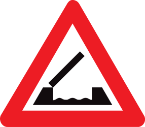 Traffic sign of Belgium: Warning for a movable bridge