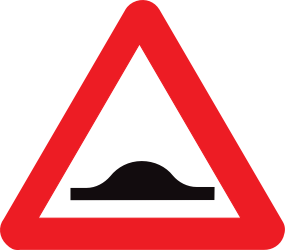 Traffic sign of Belgium: Warning for a speed bump