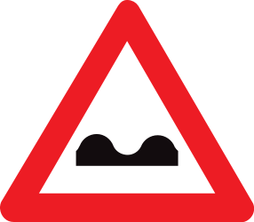 Traffic sign of Belgium: Warning for a bad road surface