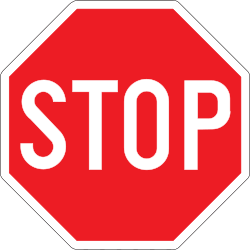 Traffic sign of Belgium: Stop and give way to all drivers