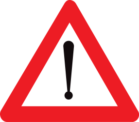 Traffic sign of Belgium: Warning for a danger with no specific traffic sign